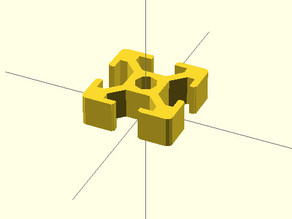 Easy extrusion profile 30x30 for openscad.