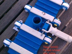 Pool vacuum wheel pin/shaft and retainer ring