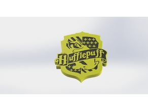Hufflepuff House Crest (dual extrusion)