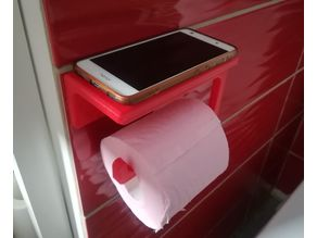 Toilet paper with phone support