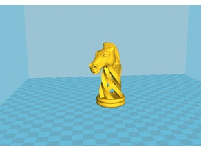 Knight Remix Fusion - Spiral Chess + OpenScad Chess