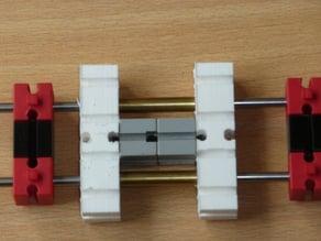 Fischertechnik glider with 6 mm brass tubes
