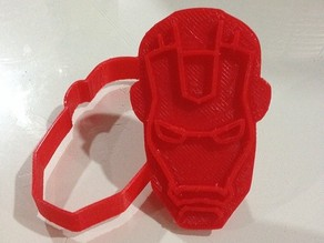 Iron Man cookie cutter v2