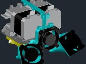 GEEETech i3C (METAL version): Dual Extruder FAN & LED