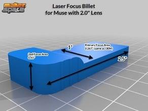 """FSL Muse or Dremel DigiLab Laser 2.0"""" Lens Focus Billet"""