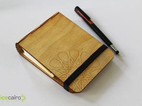 Islamic Pattern Laser-cut Notepad Cover