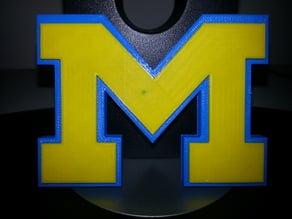 Michigan M with Raised Center