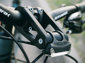 Bicycle Front Light Mount (32mm and 22mm handlebars)