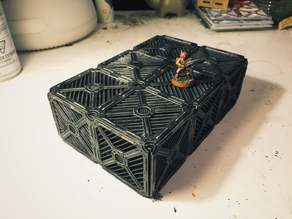 Supportless miniature sci-fi crates for warhammer.