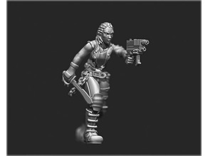 female human Street samurai  from shadowrun rpg