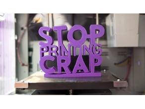 Stop Printing crap