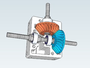 Nema 17 right angle gearbox with spiral bevel gears
