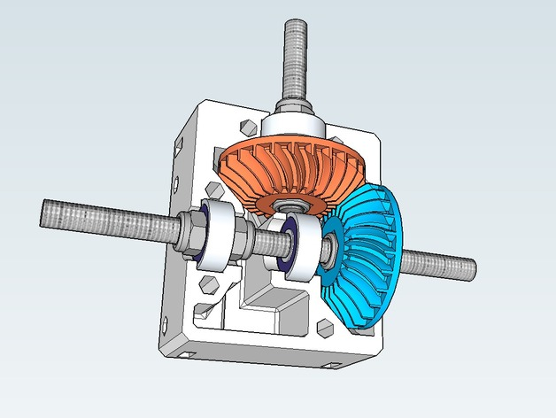 Right Angle Transmission : Nema right angle gearbox with spiral bevel gears by