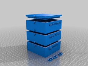 Customizable stackable Box with optional Label, Lid and Locking-system