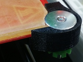 Reinforced Glass Clamp for Prusa I3 V2 (for PEI plate)