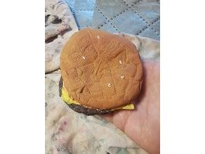 High Resolution Scan of a McDonalds Cheeseburger.
