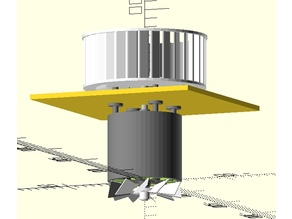 Model of Centrifugal (Squirrel Cage) Fan