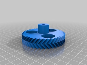 My Customized Parametric Herringbone Gear Set for Stepper Extruders