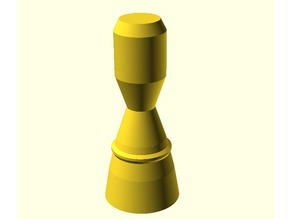 rocket nozzle with thick enough walls to be printable