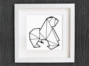 Customizable Origami Gorilla