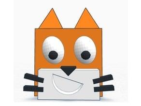 Cubic Scratch Cat