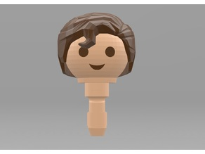Playmobil Superman Hair (Remixed from johnmcwGeo design)