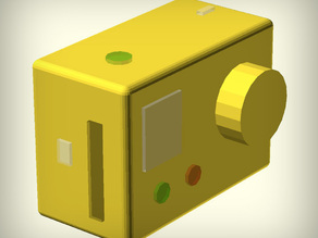 GoPro Hero Camera Mockup (Parametric)