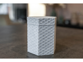 Hexagon textured box