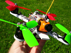 "Minimal 3D Printed 4"" Brushless Racing Quadcopter"