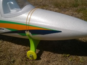 Removable landing gear and wheels for Bixler 2