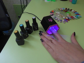 UV LED nail lamp.