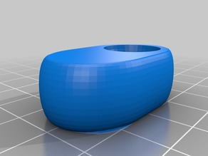 Oval knob for the full graphic screen