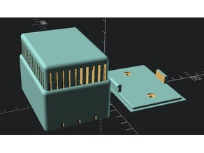 Wall box for battery operated sensor.