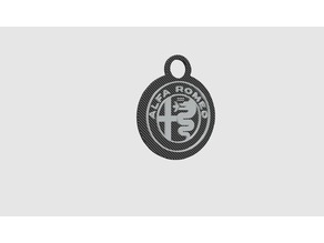 Alfa Romeo Portachiavi Carbon 60mm