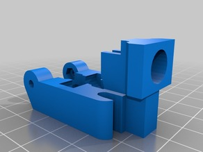 Bowden mount (M6 and M10) for Wade's Geared Extruder +3mm filament