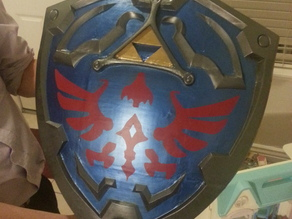 scale shield for a legendary hero with a Link to a princess named Zelda