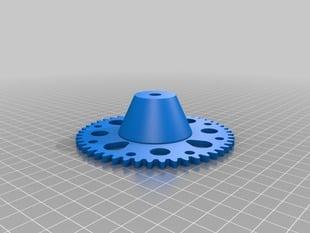 Spool gear for filament winder