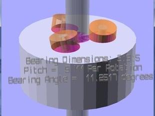 OpenSCAD Threadless Ballscrew - Highly Customizable