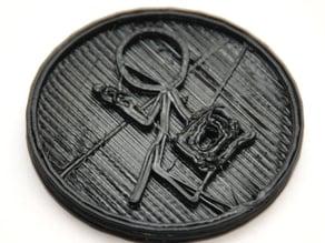 Geohashing coin