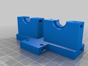 Prusa i3 rework dual bowden mount E3D-v6 (J-Head)