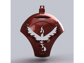Pokemon Go Team Valor Tree Ornament