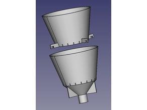 entonnoirs pour double filtration funnels