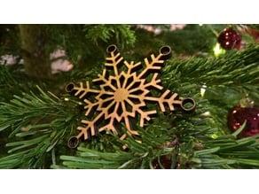 Snowflake Lasercutter Ornament