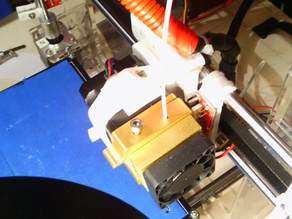 Sintron RepRap MK8 extruder mount holder and a heavy duty modded version