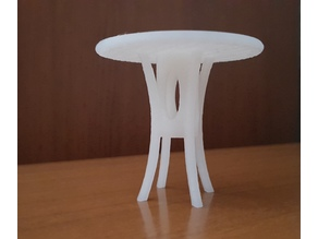 Dolls Table Retro Style, miniature houses - furniture - height 55 mm x diameter 60 mm