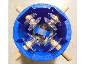 Quad Coil Holder for 1.25 inch Diameter Motor