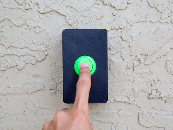 Arcade Button Door Bell By Pixil3d Thingiverse