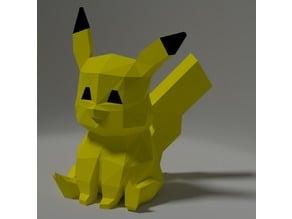 Pikachu low-poly, Papercraft