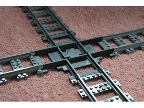 Another Lego Train Track Crossing