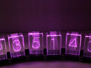 6x Nixie RGB Digi-Dot Clock or Calendar or Counter